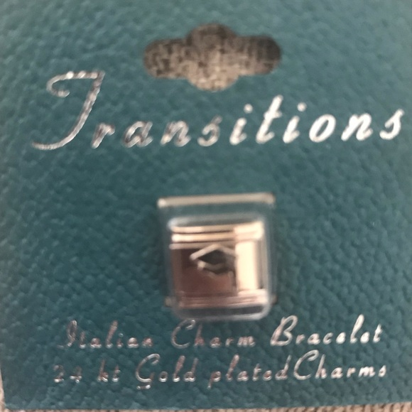New Transitions 24 gold plated graduation charm